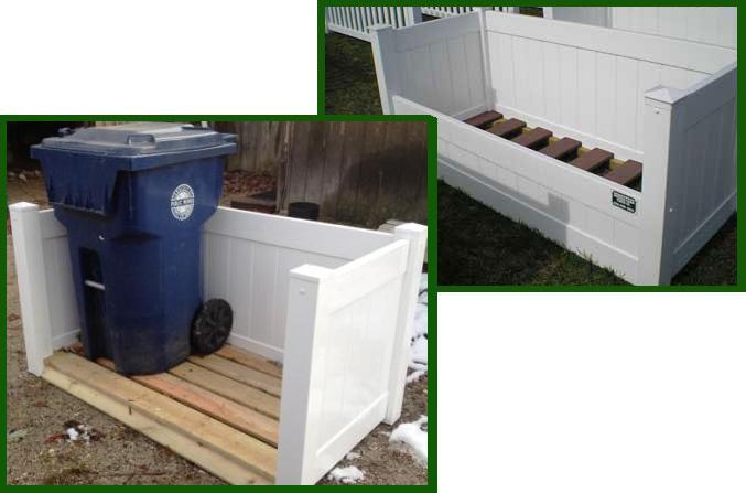 Excellent Trash Enclosures - Homestead Fence YS28